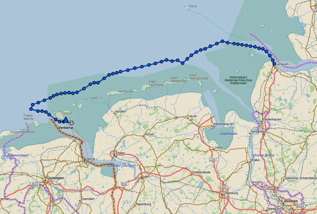 Cuxhaven to Borkum